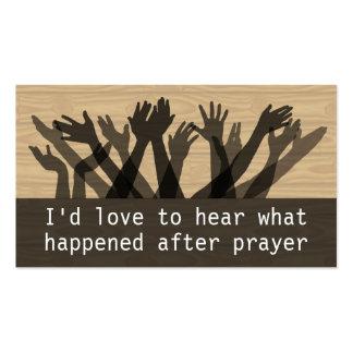 Folleto del informe de la cura Testimony.Prayer.Pr Tarjeta De Negocio