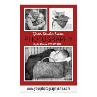 """Folleto del negocio del fotógrafo con tres fotos folleto 5.5"""" x 8.5"""""""