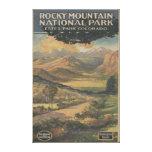 Folleto del parque nacional de Rocky Mt. # 1 Impresion De Lienzo