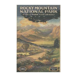 Folleto del parque nacional de Rocky Mt. # 1 Lona Envuelta Para Galerias