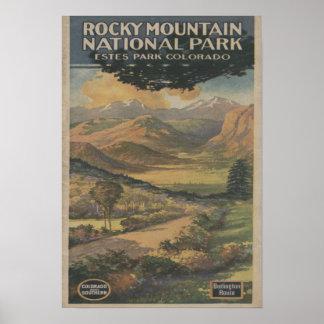 Folleto del parque nacional de Rocky Mt. # 1 Posters