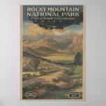 Folleto del parque nacional de Rocky Mt. # 1 Póster
