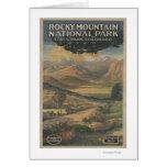 Folleto del parque nacional de Rocky Mt. # 1 Tarjeta De Felicitación
