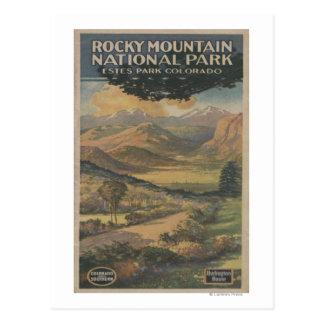 Folleto del parque nacional de Rocky Mt. # 1 Tarjeta Postal