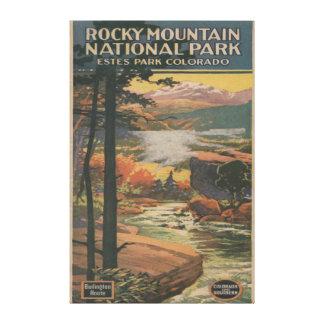 Folleto del parque nacional de Rocky Mt. # 2 Impresion En Lona