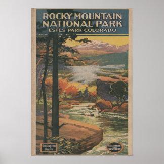 Folleto del parque nacional de Rocky Mt. # 2 Posters