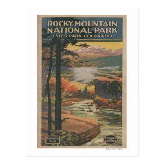 Folleto del parque nacional de Rocky Mt. # 2 Tarjetas Postales