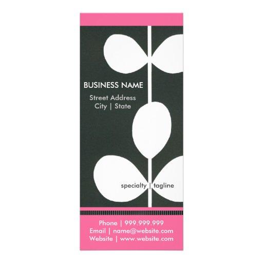 Folleto moderno del negocio de la flor comunicado personal