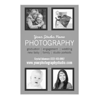 Folleto profesional del negocio del fotógrafo tarjeta publicitaria