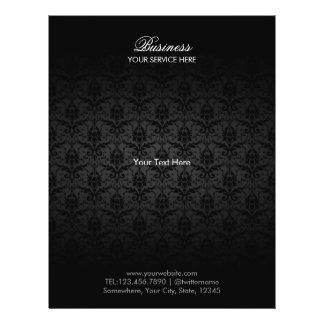 """Folletos negros elegantes del salón del pelo y de folleto 8.5"""" x 11"""""""