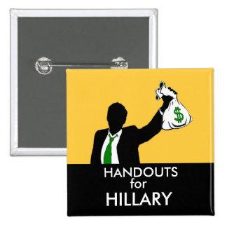 Folletos para Hillary Pin Cuadrado