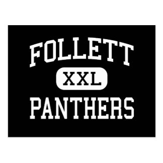 Follett - Panthers - High School - Follett Texas Postcard