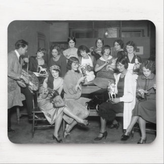 Follies Girls with toys, early 1900s Mousepad