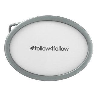 follow4follow oval belt buckle