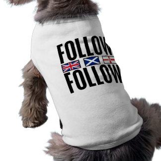 Follow Follow 3 Flags Dog Tshirt