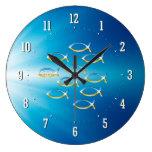 Follow Him - Christian Fish Symbol Wall Clock