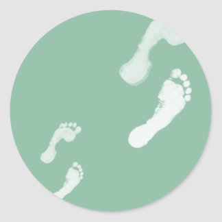 Follow in their Footsteps Classic Round Sticker
