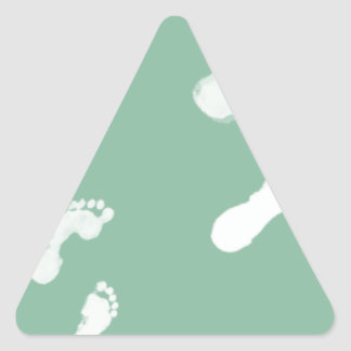 Follow in their Footsteps Triangle Sticker