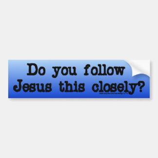 Follow Jesus Bumper Sticker
