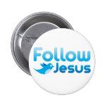 Follow Jesus Christ Twitter Humor Buttons