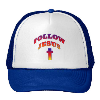 FOLLOW JESUS Hats and Caps