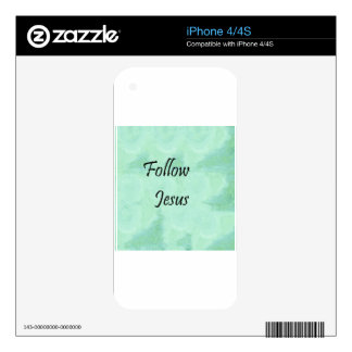 Follow Jesus iPhone 4 Decals