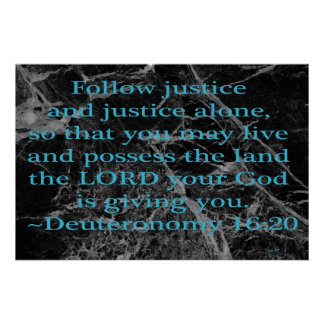 Follow Justice Poster
