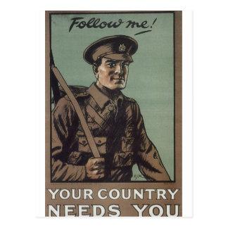Follow me! (1914)_Propaganda Poster Postcard