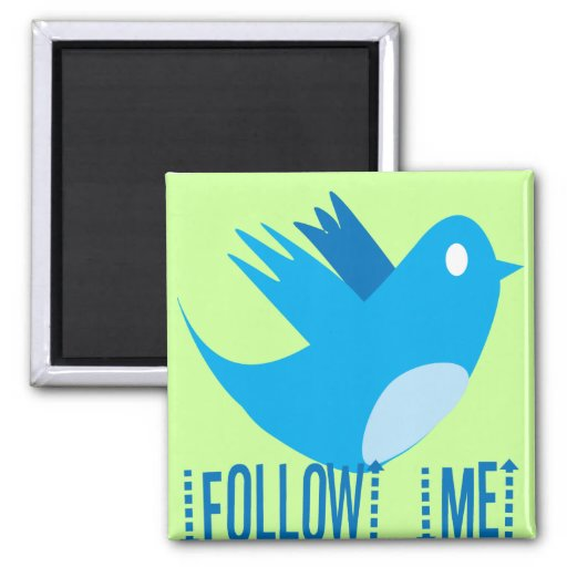 Follow Me 2 Inch Square Magnet
