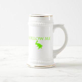Follow Me Apple Green Beer Stein