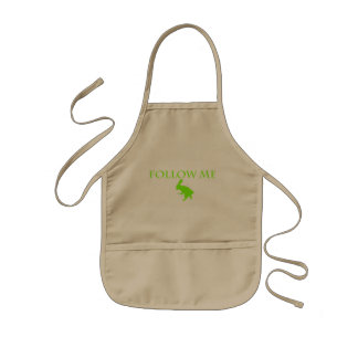 Follow Me Apple Green Kids' Apron
