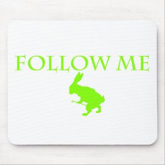 Follow Me Apple Green Mouse Pad