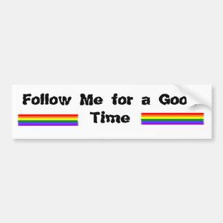 Follow Me Car Bumper Sticker