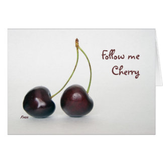 follow me Cherry Cards