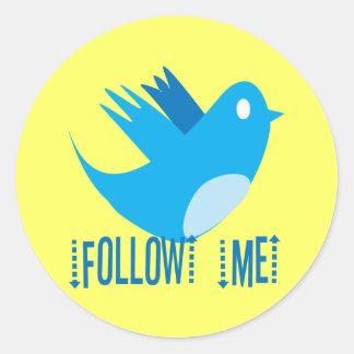 Follow Me Classic Round Sticker