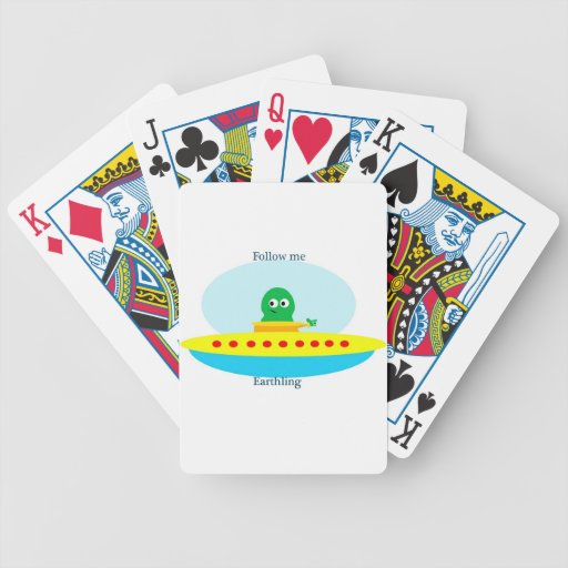 Follow Me Earthing Bicycle Playing Cards