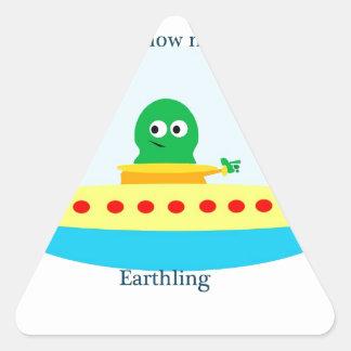 Follow Me Earthing Triangle Sticker