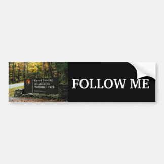 Follow Me - Great Smoky Mountains Bumper Sticker