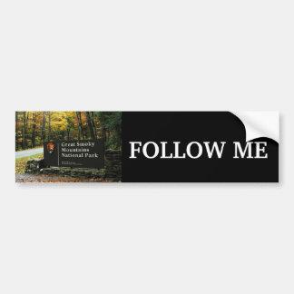 Follow Me - Great Smoky Mountains Car Bumper Sticker