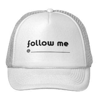 follow me @ trucker hat