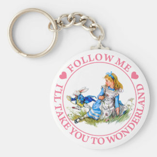 FOLLOW ME, I'LL TAKE YOU TO WONDERLAND KEYCHAIN