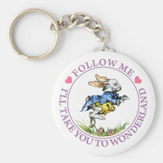 FOLLOW ME - I'LL TAKE YOU TO WONDERLAND! KEYCHAIN