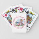 Follow Me, I'll Take You To Wonderland Playing Cards