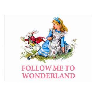 Follow me - I'll take you to Wonderland! Postcard