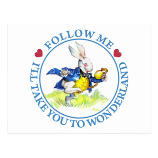 Follow me - I'll take you to Wonderland! Postcard