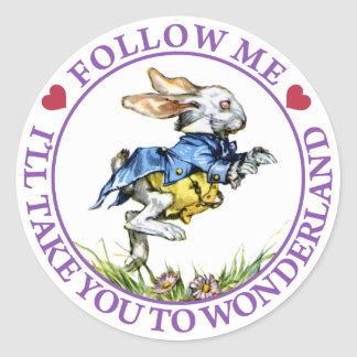 Follow me - I'll take you to Wonderland! Stickers