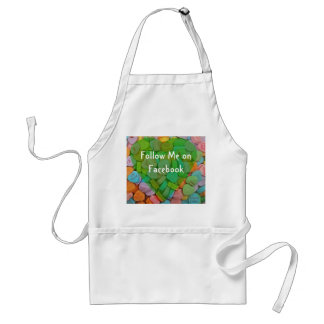 Follow Me on Facebook-Candy Hearts with New Saying Apron