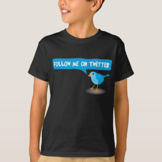 Follow Me On Twitter Blue Bird Kids Boys T-Shirt
