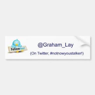 Follow Me on Twitter Car Bumper Sticker