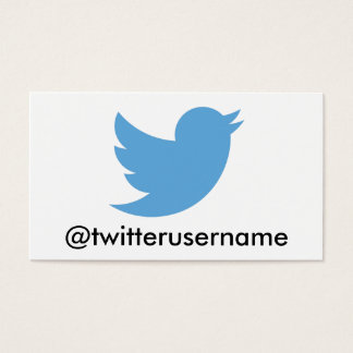 Follow Me On Twitter (Customizable Username) Business Card
